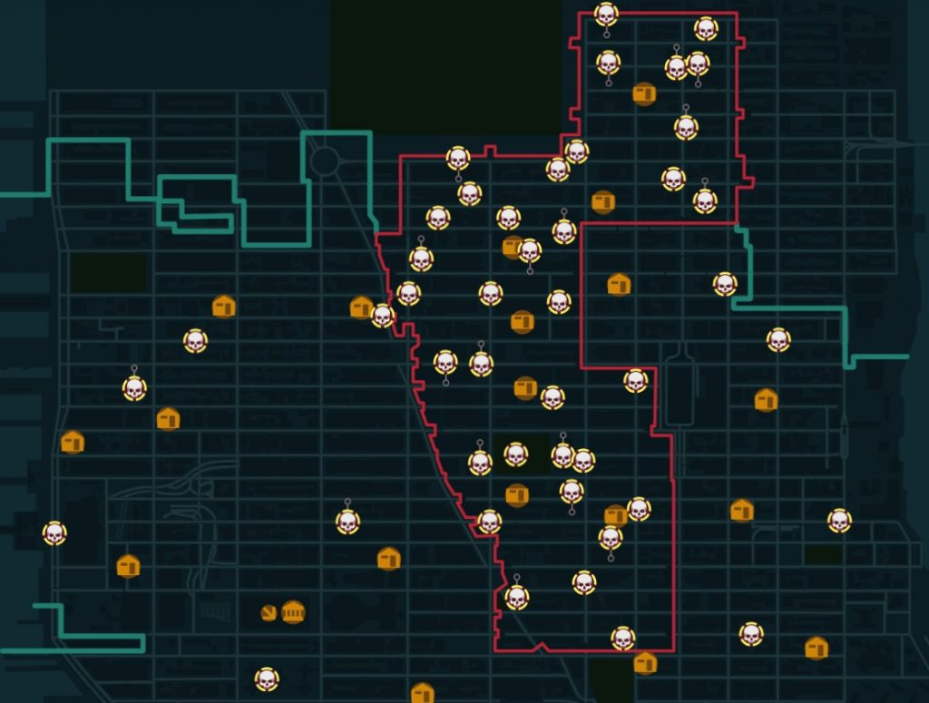 the division dark zone map