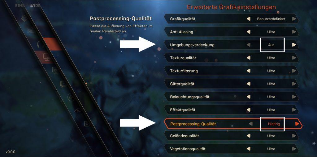 Anthem Grafik-Einstellungen für mehr FPS