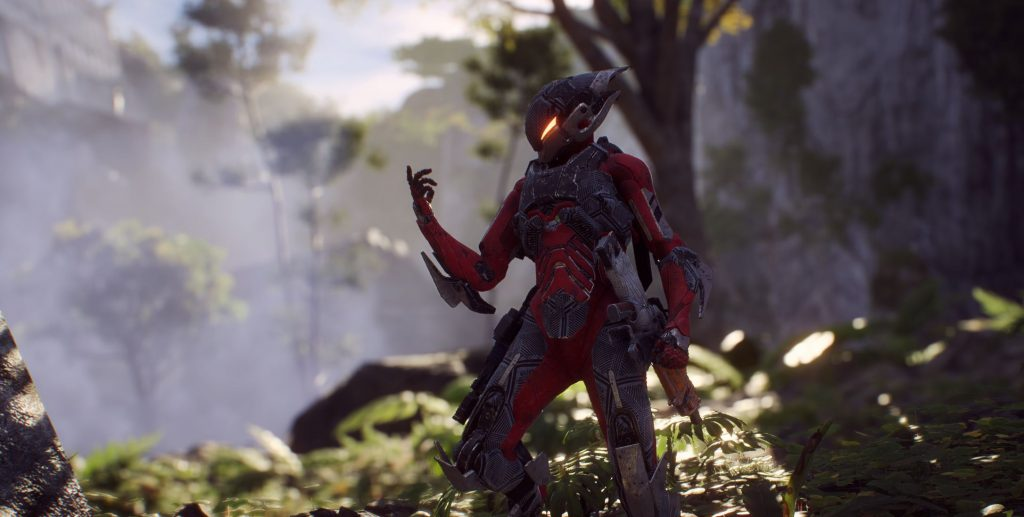Anthem Interceptor mit einer Pose