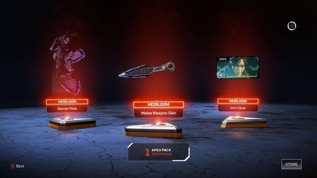 Apex Legends Erbstück Set von Wraith