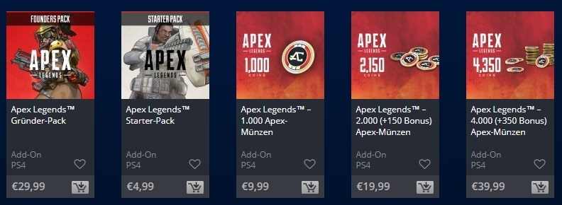 Apex Legends Packs