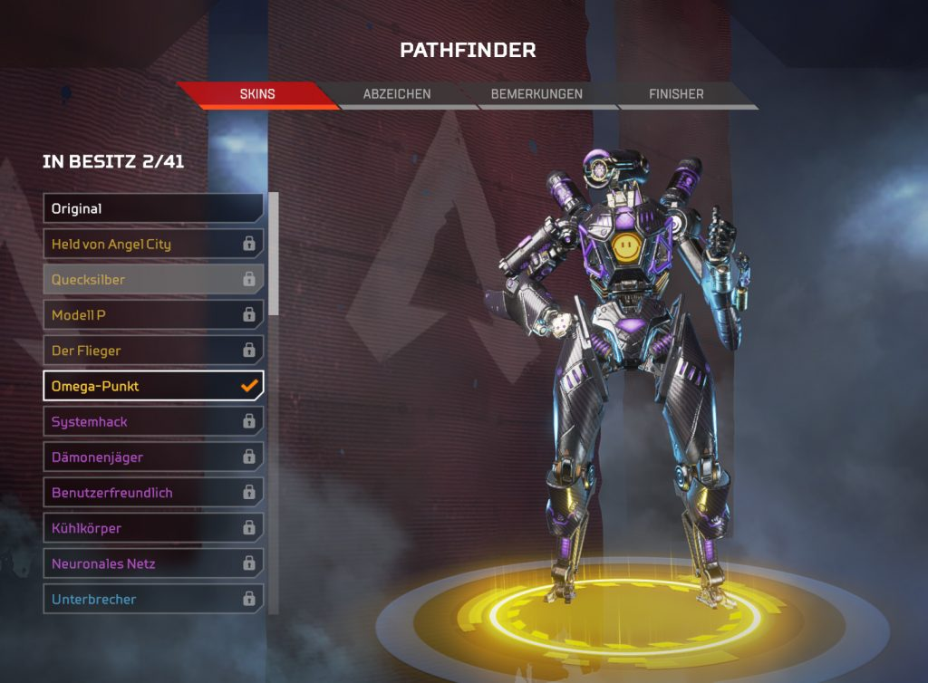 Apex Legends Pathfinder Omega Punkt Twitch Skin