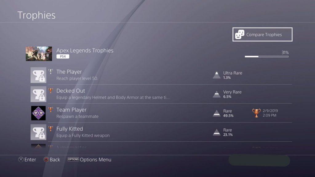 Apex Legends Teamspieler Trophäe für PS4