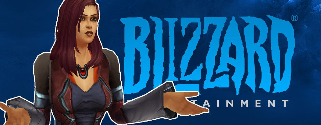 Blizzard Logo Human Asking title