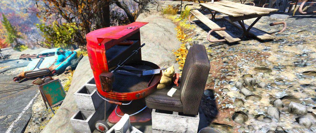 Fallout 76 Teddybären Grill