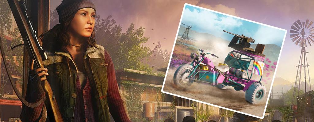 Far Cry New Dawn schenkt Vorbestellern dieses fahrende Einhorn