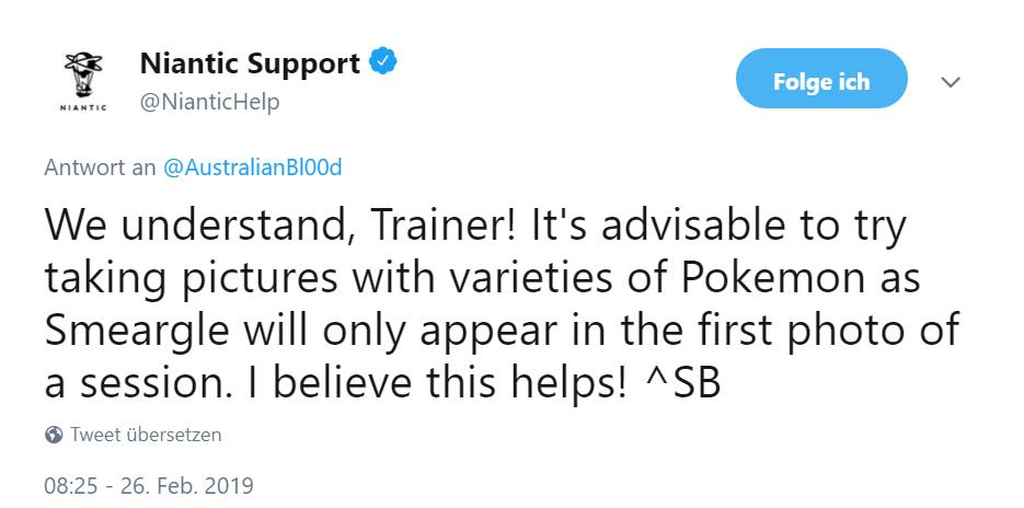 Tweet Niantic Pokemon GO Farbeagle