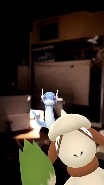 Farbeagle Dratini Bild gesprungen Pokémon GO