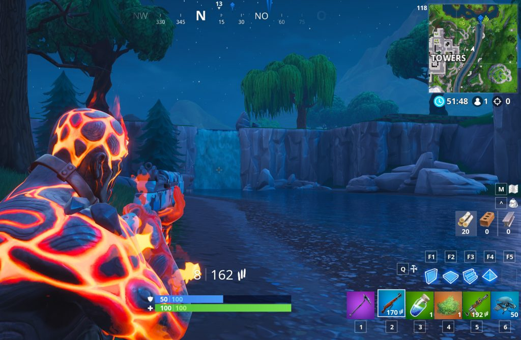 Fortnite Wasserfall Loot Lake Fundort