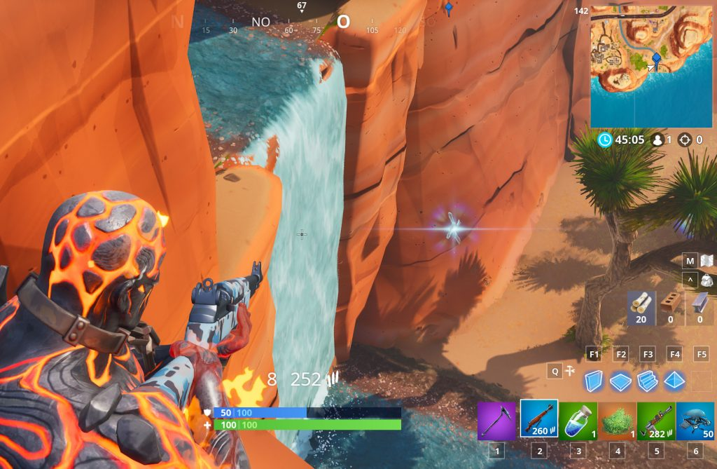 Fortnite Wasserfall Paradise Palms Fundort2