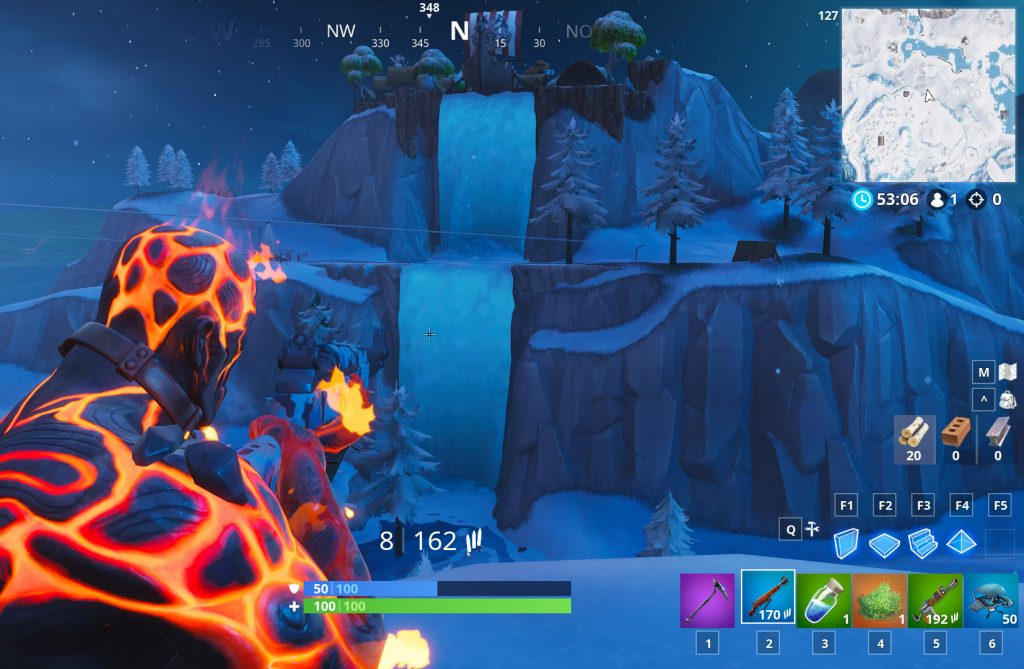 Fortnite Wasserfall Snobby Shores Fundort