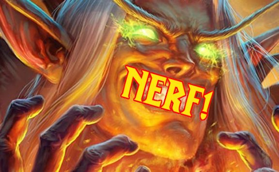 Hearthstone Nerf title