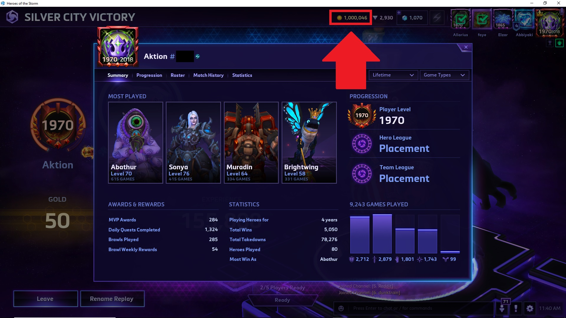 HotS Million Gold Screenshot