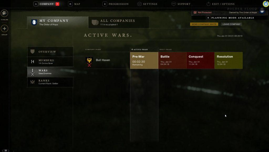 New World Company war