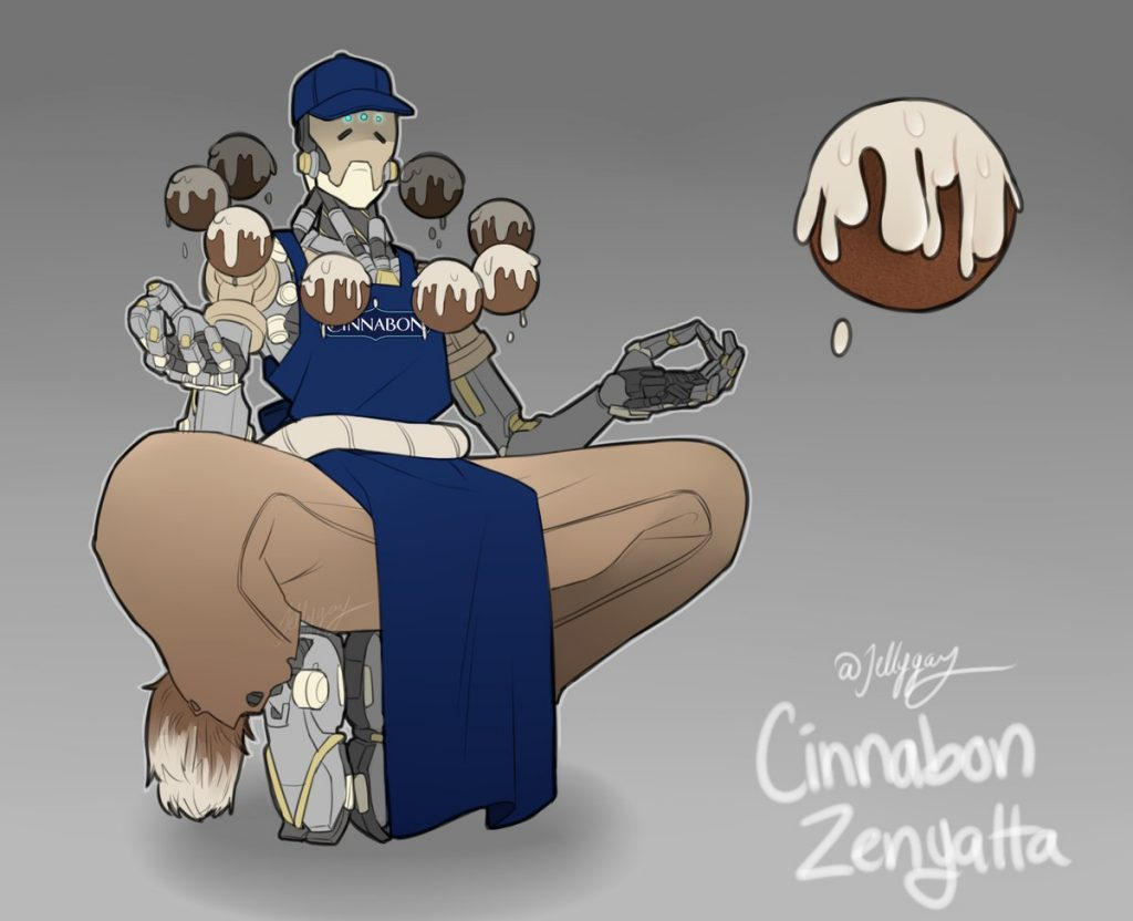 Overwatch Cinnabon Zenyatta by jelly
