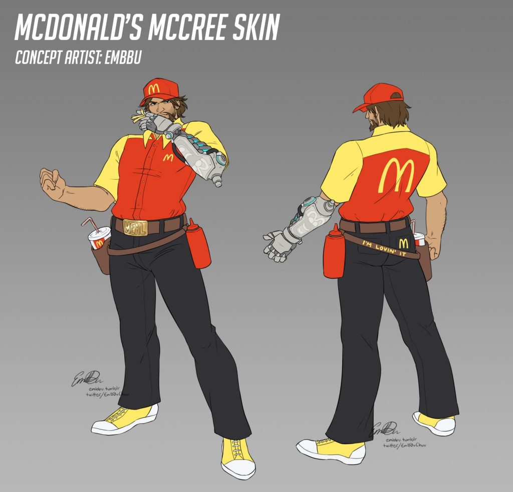 Overwatch McDolands McCree by embbu