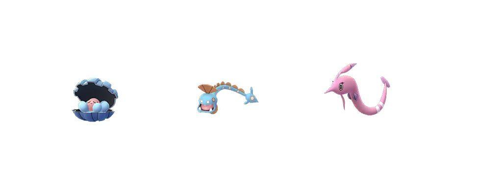 Perlu, Aalabyss, Saganabyss Entwicklungen Pokémon GO