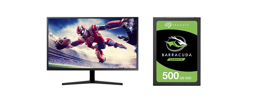 Samsung-Monitor und SSD von Barracuda günstig bei Amazon