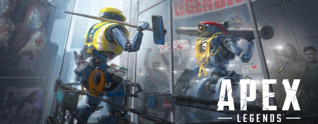 Apex Legends Pathfinder sieht sich im Spiegel