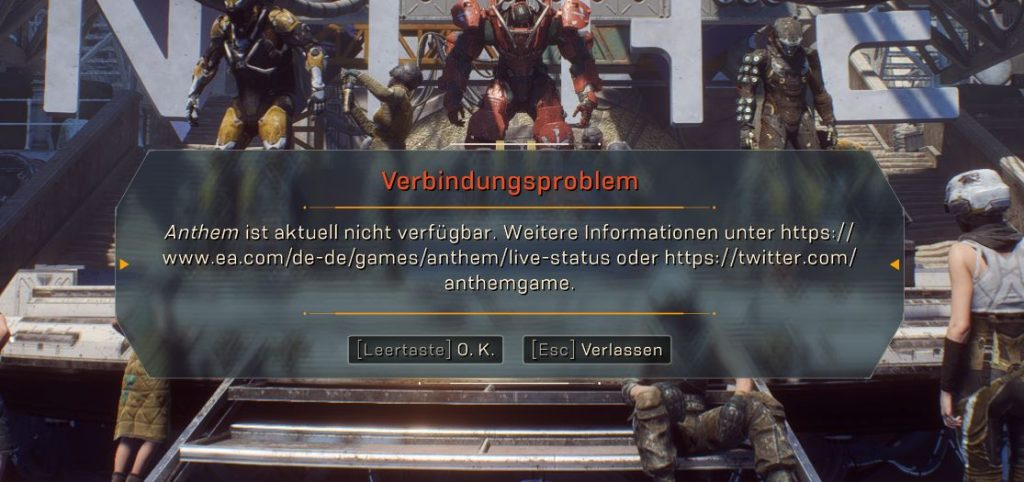 Verbindungsprobleme-Server-Anthem-Connection-Problems