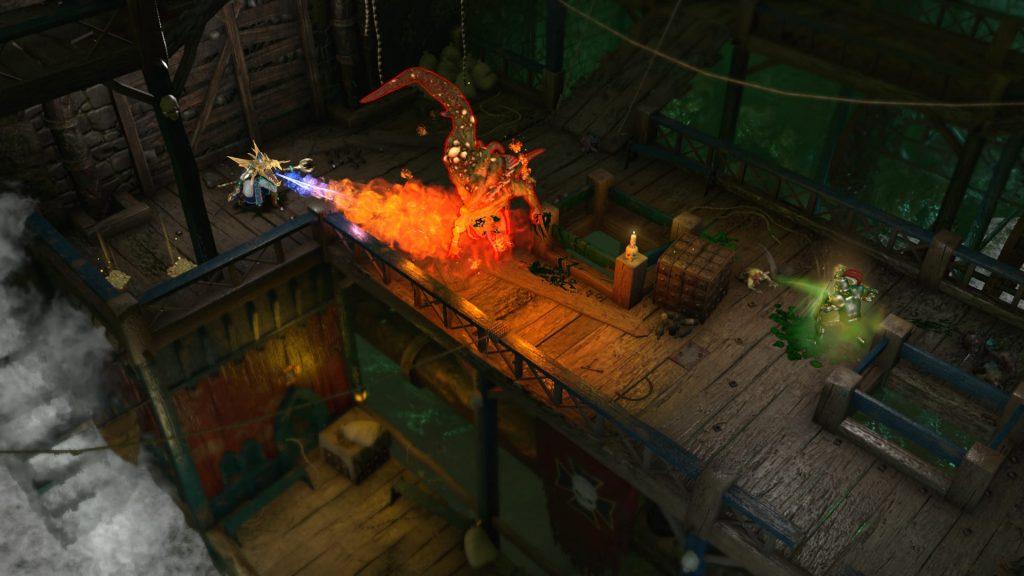 Warhammer Chaosbane Gameplay Magier mit Flammen