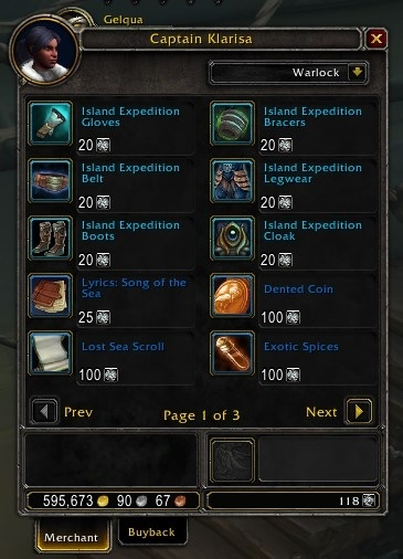WoW Island Expeditions Equipment