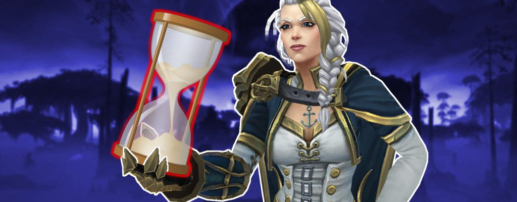 World of Warcraft Jaina mit Sanduhr