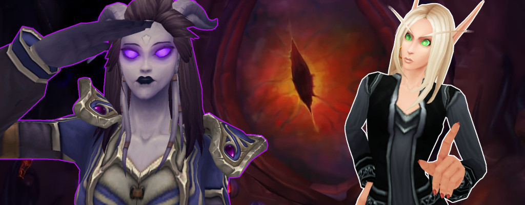 WoW Nzoth Draenei Blood Elf title