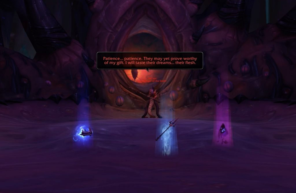 WoW Nzoth Uunat three relics
