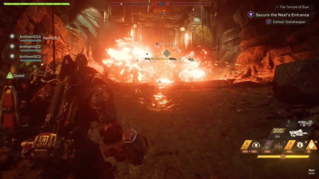 So sieht die Explosion des Feuerwand-Mörsers in Anthem aus.
