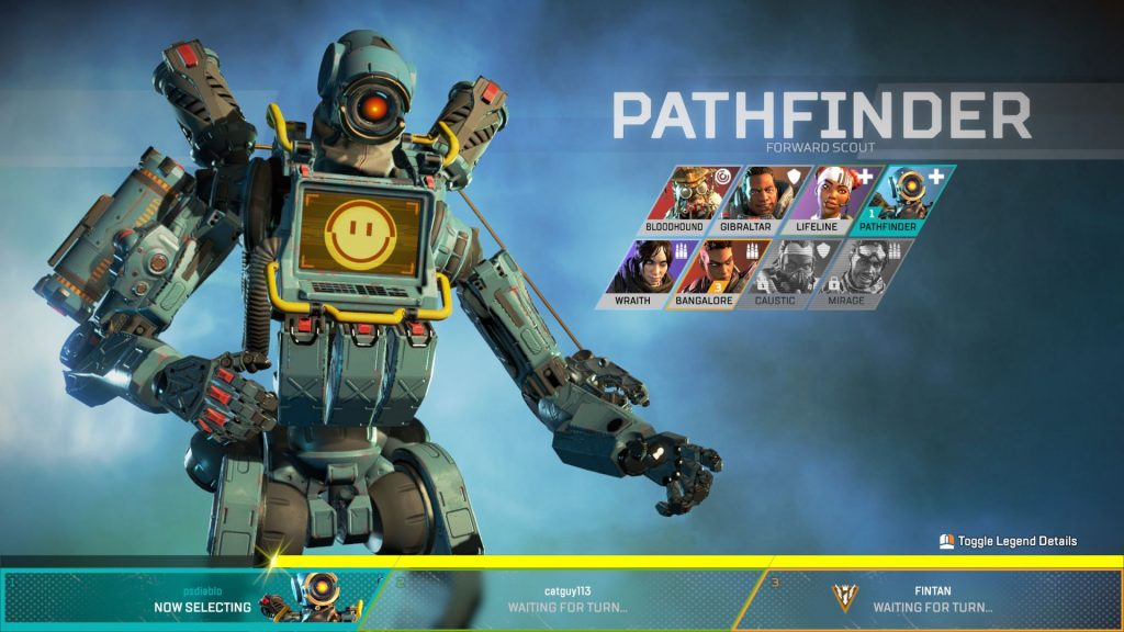 Apex Legends Screenshot Pathfinder in der Auswahl