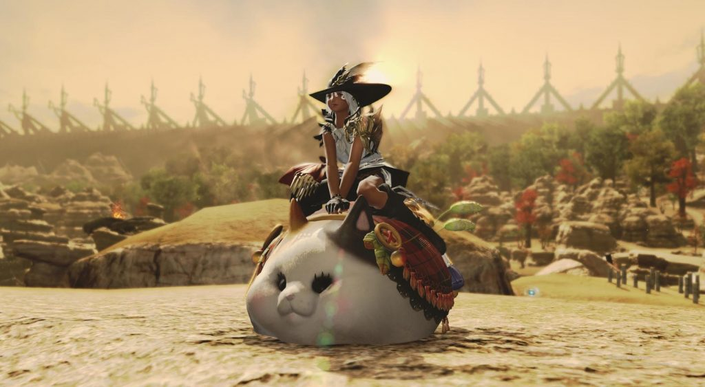 final fantasy xiv fette katze reittier