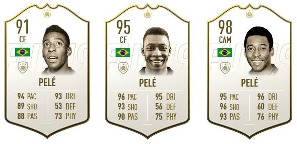 Icon-Karten von Pelé