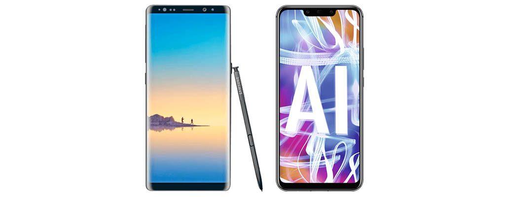 MediaMarkt hat das Samsung Galaxy Note 8 und das Huawei Mate20 Lite im Angebot.