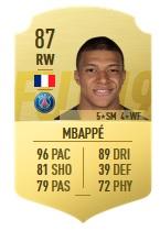 Mbappé in FUT 19