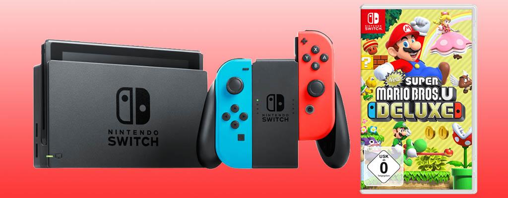 Nintendo Switch im Bundle mit New Super Mario Bros. besonders günstig