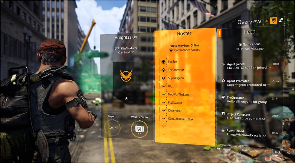 the division 2 clan-menü