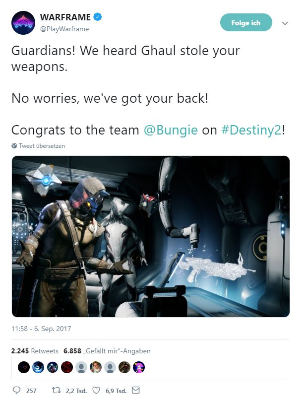 Warframe-liebt-Destiny2-Twitter