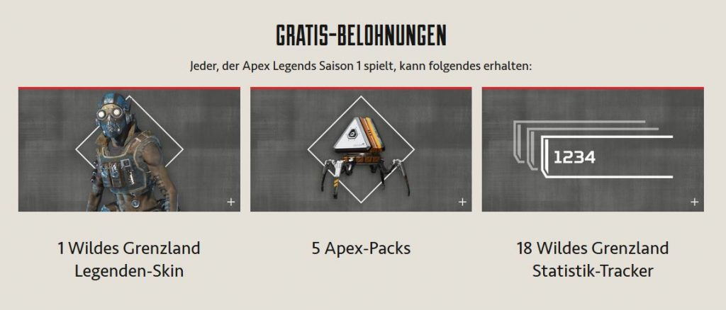 Apex Legends Battle Pass 1 kostenlose Inhalte