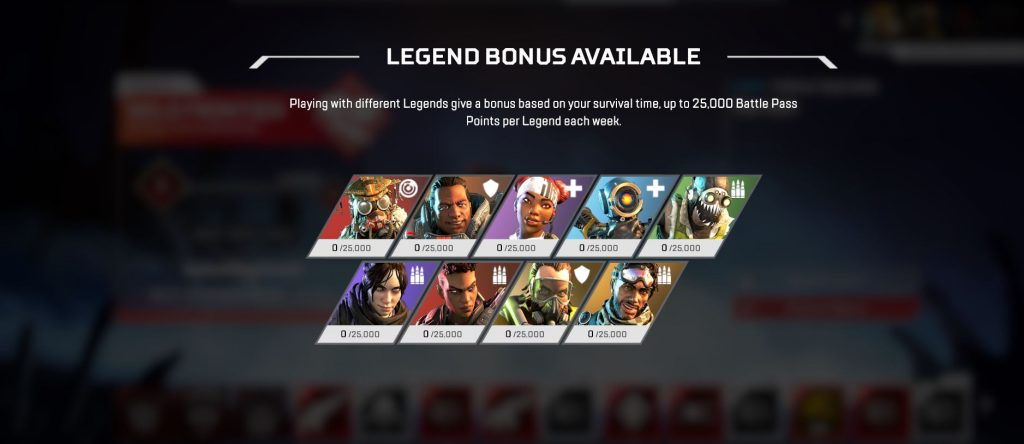 Apex Legends Legend Bonus