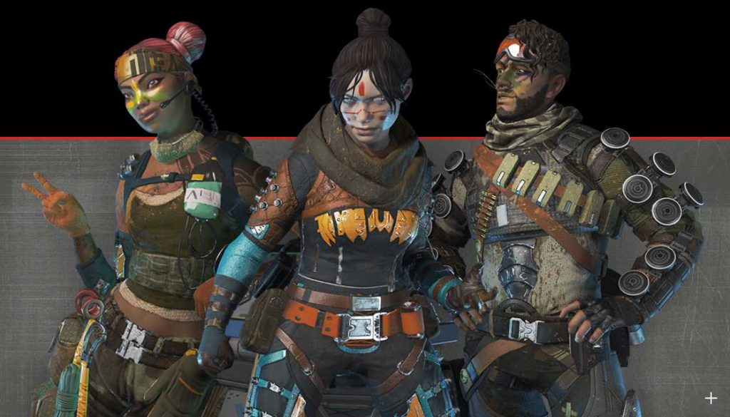 Apex Legends Lifeline Mirage Wraith Skin aus Season 1