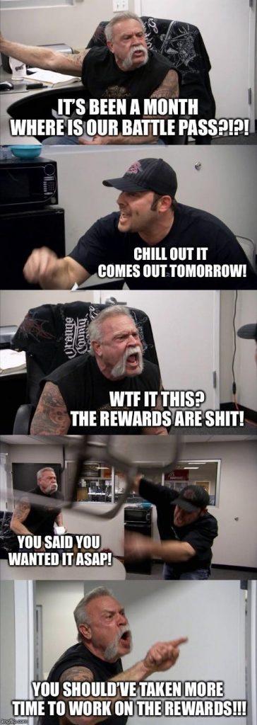 Apex Legends sub reddit rastet aus meme