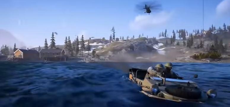 Battlefield 5 Fahrzeuge Firestorm Helikopter Wasser