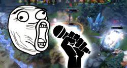 DOTA 2 Mikrofon Caster Titel