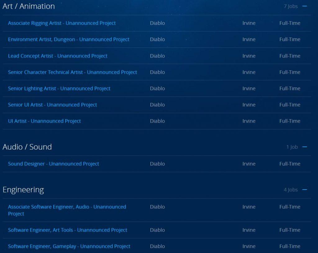 Blizzard Stellenausschreibungen bewerben Job Diablo