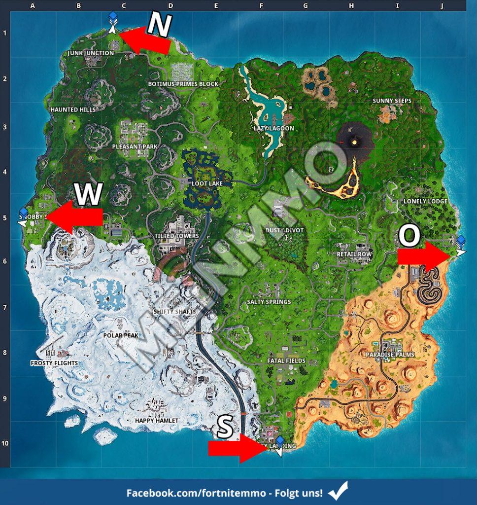 FN Season 8 Woche 2 Nördlichster Punkt Karte Überblick