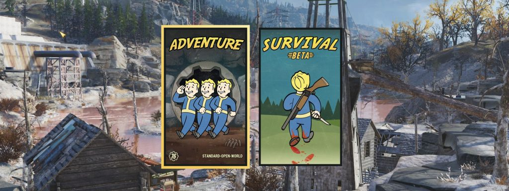 Fallout 76 Adventure udn Survival Mode