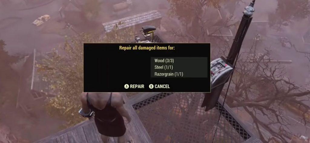 Fallout 76 Brahmin Pferch reparatur