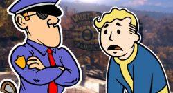 Fallout 76 Polizist ermahnt Vault Boy Titel