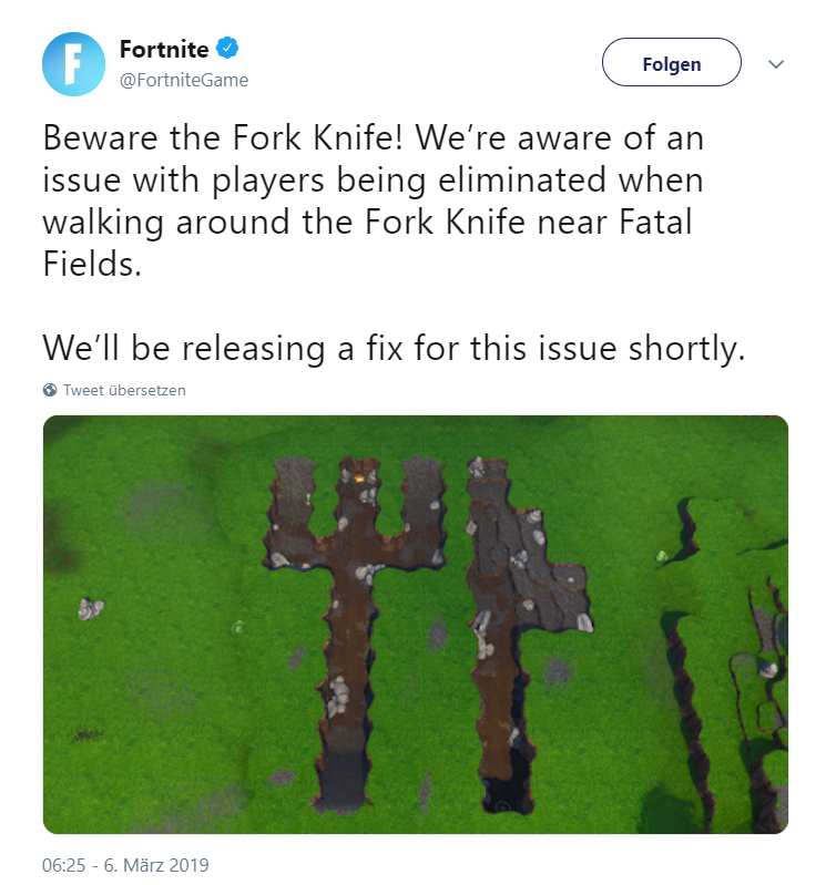 Twitter Post Fortnite Bug